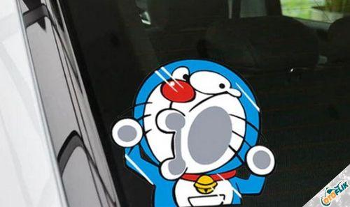 Modifikasi Stiker Kaca Mobil Lucu 05
