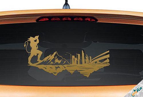 Modifikasi Stiker Kaca Mobil Unik 03