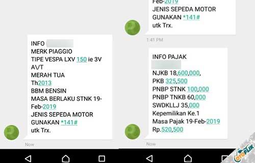 Cara Melacak Plat Nomor Motor dengan SMS