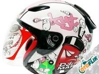 KYT DJ Maru Helm Half Face - Pink
