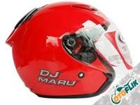 KYT DJ Maru Helm Half Face - Red Metalik