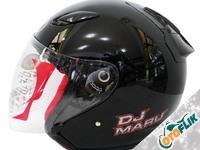 KYT DJ Maru Helm Half Face - Solid Black