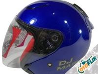 KYT DJ Maru Solid Deep Helm - Blue