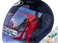 KYT DJ Maru Solid Helm Half Face - Black Metalic