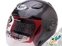 KYT DJ Maru Solid Helm Half Face - Gun Metal