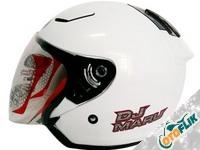 KYT DJ Maru Solid Helm Half Face - White