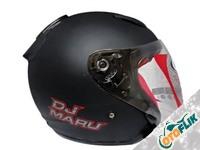 KYT Dj Maru Black Doff Helm Half Face