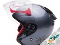 KYT Dj Maru Solid All Grey Helm Half Face