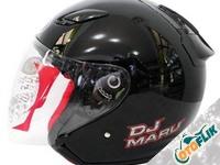 KYT Dj Maru Solid Helm Half Face - Black