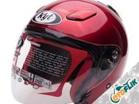 KYT Dj Maru Solid Red Maroon Helm Half Face