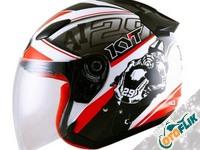 KYT Dj Maru World Gp Ready Helm Half Face - Red