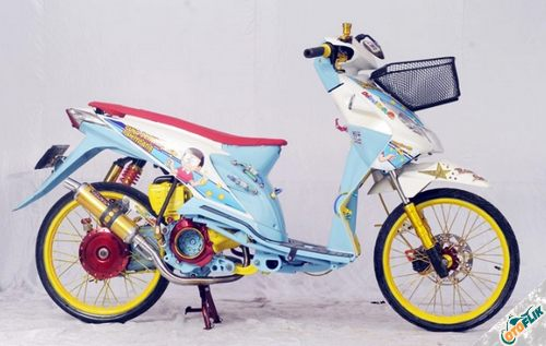 Modifikasi Motor Thailook Beat 04
