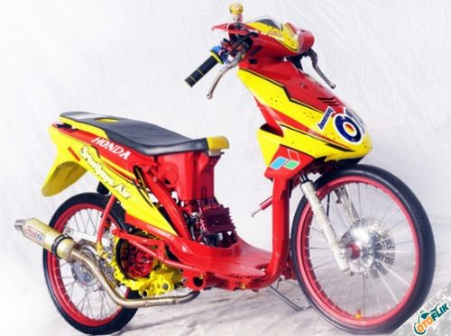 Modifikasi Motor Thailook Beat 05