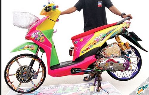 Modifikasi Motor Thailook Beat 08