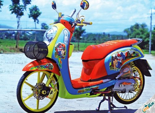 Modifikasi Motor Thailook Scoopy 01
