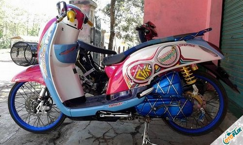 Modifikasi Motor Thailook Scoopy 03