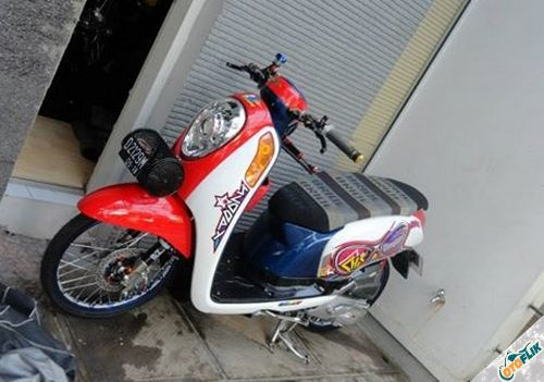 Modifikasi Motor Thailook Scoopy 06