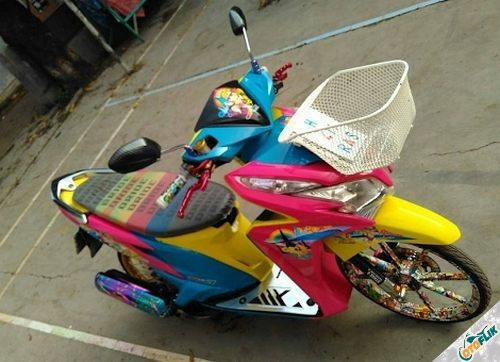 Modifikasi Motor Thailook Vario 01