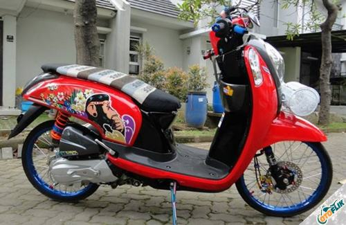 Modifikasi Motor Scoopy Babylook 1