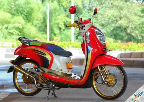 Modifikasi Motor Scoopy Babylook 3