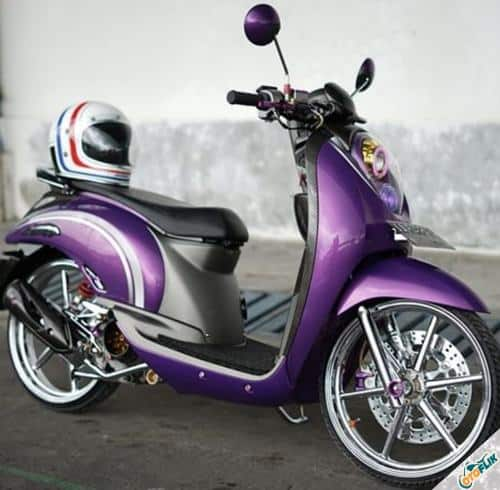 Modifikasi Motor Scoopy Babylook 4