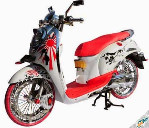 Modifikasi Motor Scoopy Simple 2