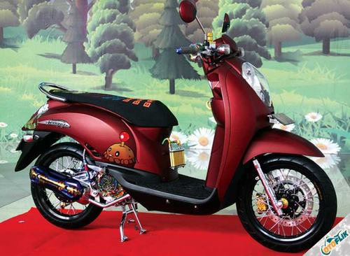 Modifikasi Motor Scoopy Simple 3