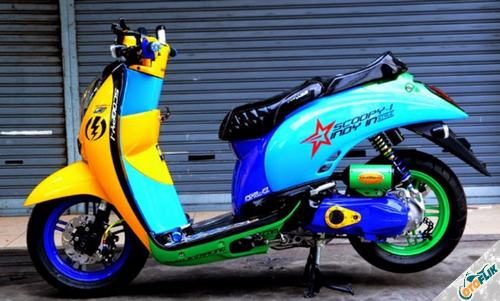 Modifikasi Motor Scoopy Thailook 2