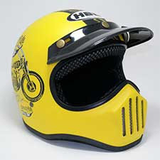 Helm Cakil Born To Ride Yellow
