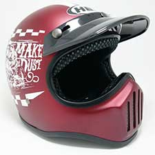 Helm Cakil Rust Dust Red Royal