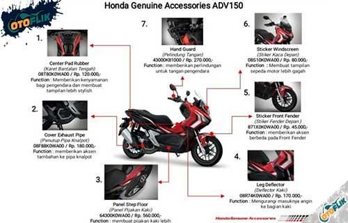 Aksesoris Honda ADV 150 Bikin Keren, Ganteng & Nyaman