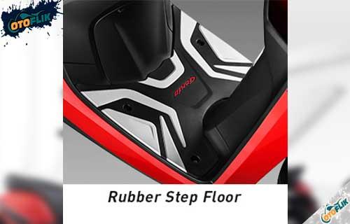 Rubber Step Floor Black