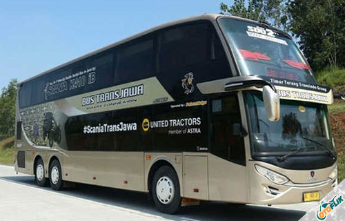 Bus Scania Double Decker dari PO. Putera Mulya