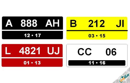 Warna Plat Nomor Kendaraan