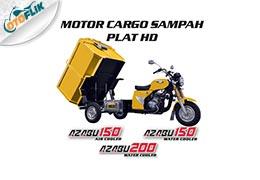 Motor Cargo Sampah Fiber Terbuka