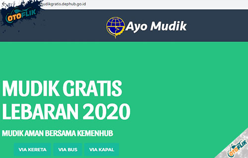 Silahkan buka website mudikgratis.depbub.go .id lalu pilih moda transportasi apakah via kereta bus atau kapal