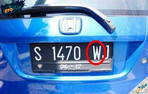 Arti Kode Plat Nomor Belakang Kendaraan