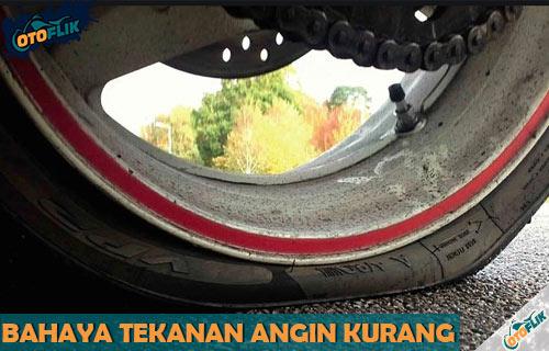 Bahaya Tekanan Ban Motor Kurang