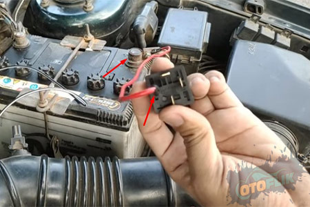 1 Hubungkan Kabel Positif ke Terminal atau PIN 30 Relay