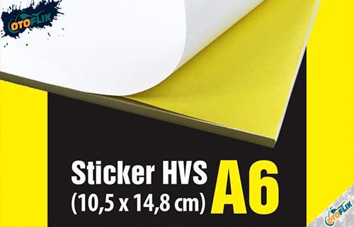 Stiker HVS
