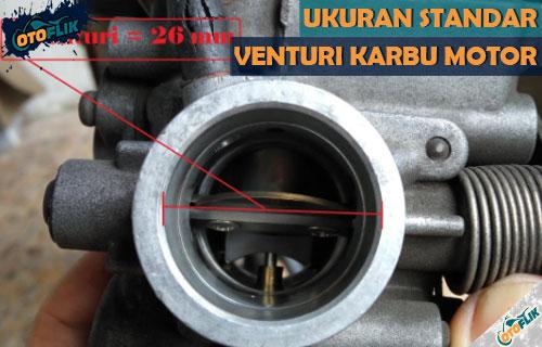 Ukuran Standar Venturi Karburator Motor