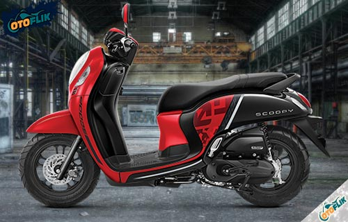 All New Honda Scoopy Sporty Red