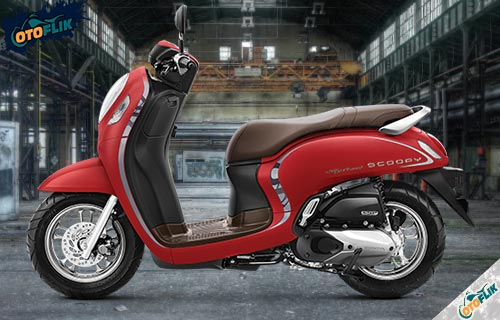 All New Honda Scoopy Stylish Red