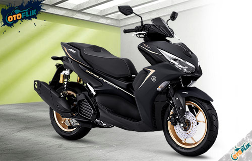 All New Yamaha Aerox 155 Connected ABS Maxi Signature Black Gold