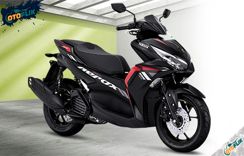 All New Yamaha Aerox 155 Connected STD Matte Black Red