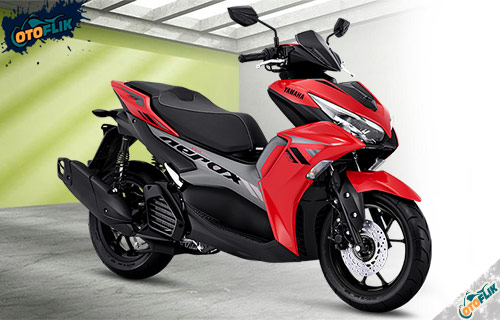 All New Yamaha Aerox 155 Connected STD Red