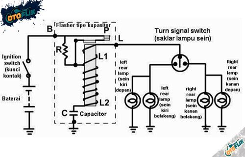 Flasher Model Kapasitor