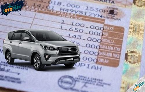 Biaya Pajak Toyota Innova Tahunan