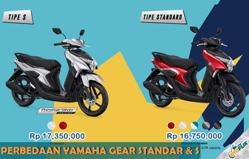 5 Perbedaan Yamaha Gear Standar Dan S 2021 Terlengkap Otoflik