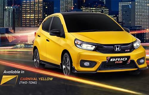Honda Brio RS Ultimate Carnival Yellow